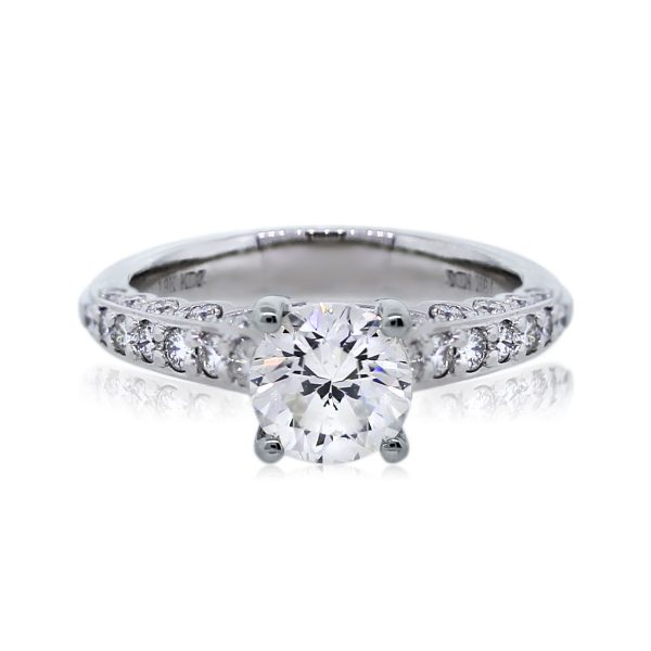 You are Viewing this 18k White Gold Round Brilliant Engagement Ring!