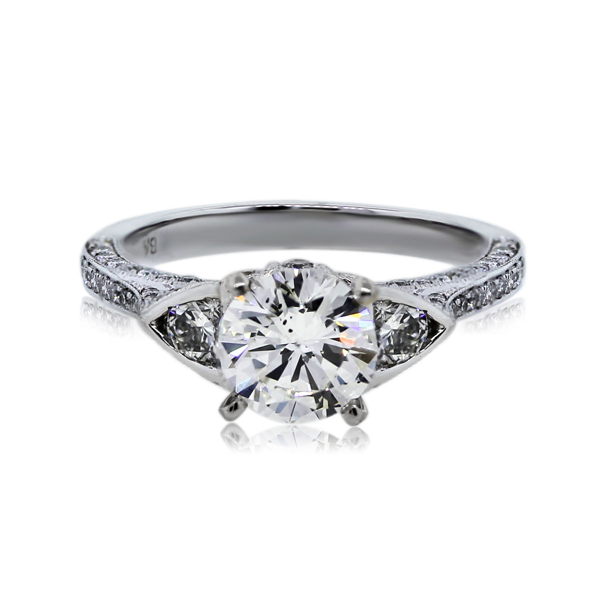 You are Viewing this 1.20ct Round Brilliant Diamond Engagement Ring!