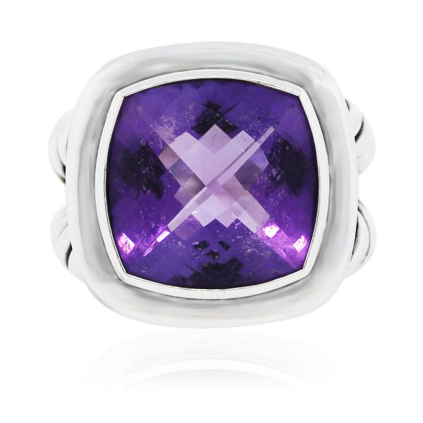 You are viewing this David Yurman Albion Sterling Silver Amethyst Ring!