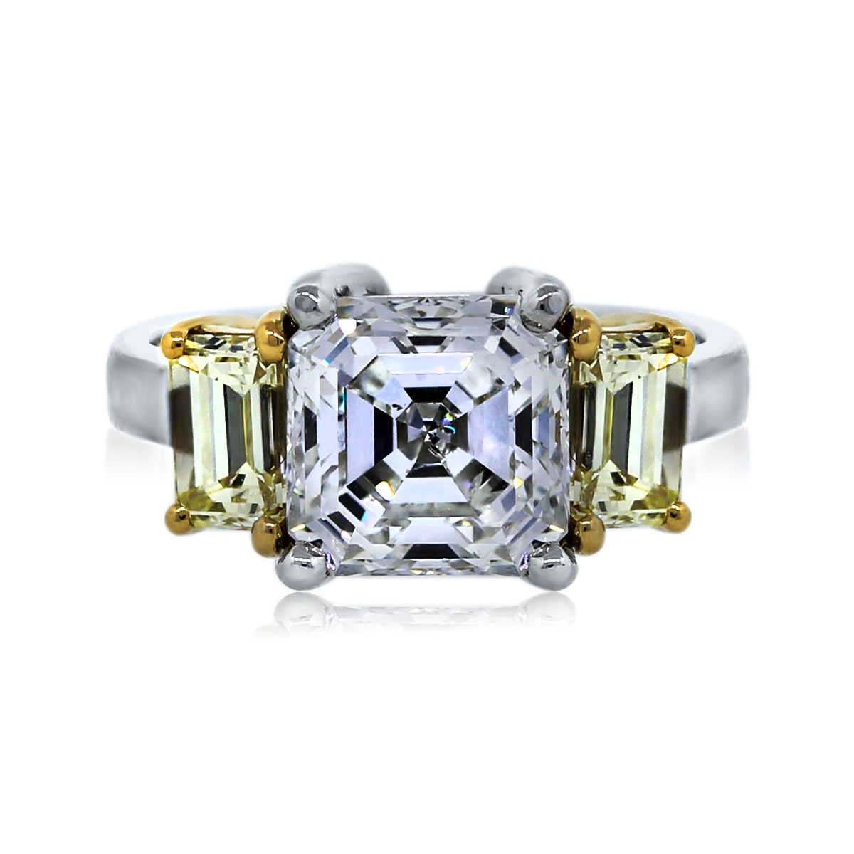 You are Viewing this Stunning Asscher Cut Diamond Engagement Ring