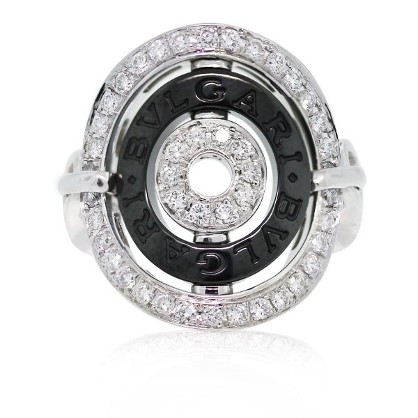 We love this Bvlgari Cerchi Shield Design Diamond Collapsible Ring