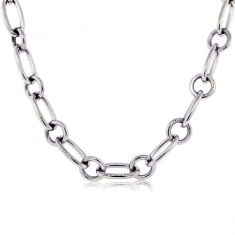 Tiffany & Co. 18k White Gold Chain Link Necklace