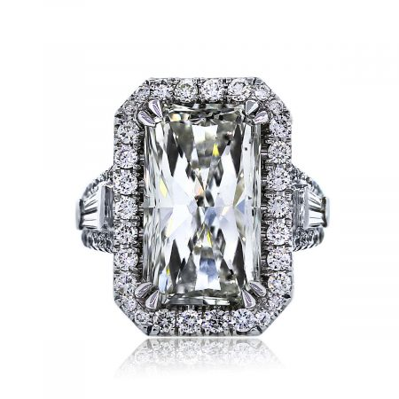 You are Viewing this 9.30ct Radiant Cut Engagement Ring
