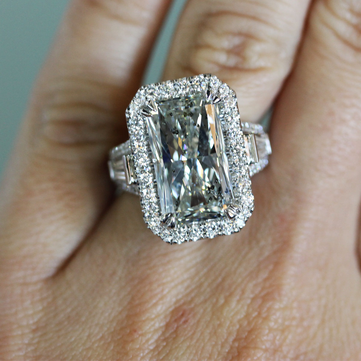 Egl Certified 9 03ct Radiant Cut Diamond Engagement Ring