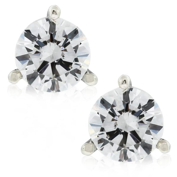 These 14k White Gold Martini Style Diamond Stud Earrings are gorgeous!