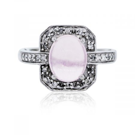 You are viewing this White Gold Diamond and Moonstone Ring!