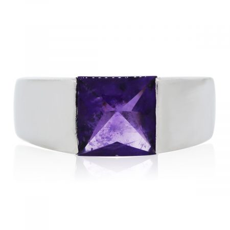 You are viewing this White Gold Amethyst Ring!