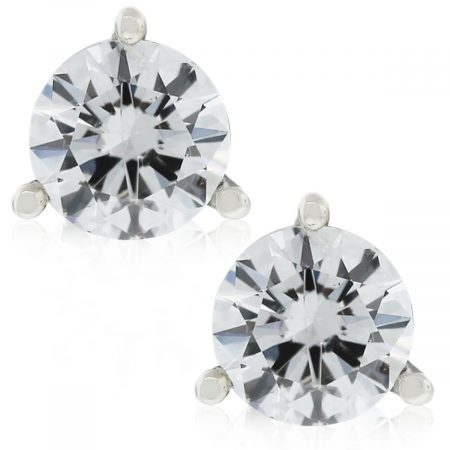 You must have these EGL Certified 14k White Gold Round Brilliant Martini Style Diamond Studs