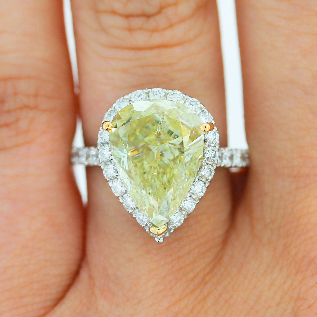 Check out this gorgeous Fancy Yellow Engagement ring