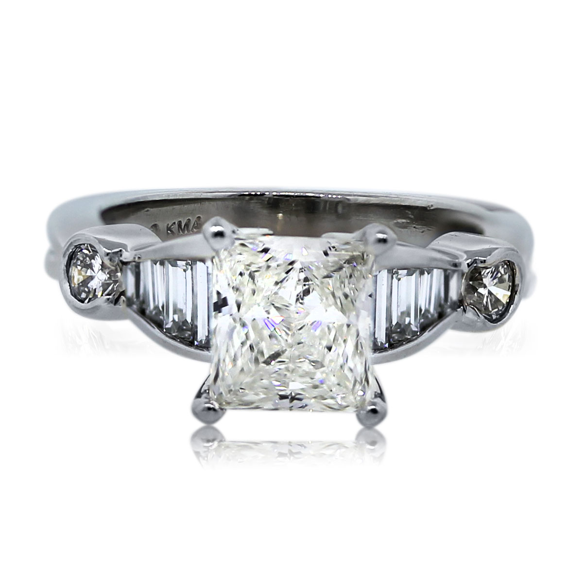 You are Viewing this Stunning 1.56ct Radiant Cut Engagement Ring!
