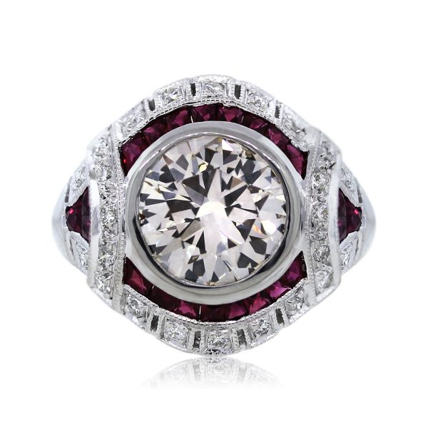 You are Viewing this Lovely 2.49ct Round Brilliant Diamond Ring!