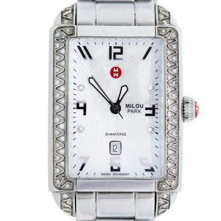 You are viewing this Michele Milou Park Ladies Stainless Steel Watch!
