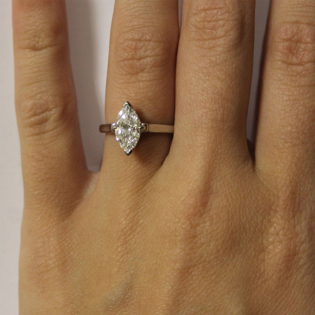 Tiffany & Co Platinum Marquise Cut Solitaire Engagement Ring