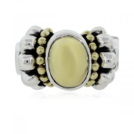 You are viewing this Lagos Caviar 18k Yellow Gold and Sterling Silver Ring!