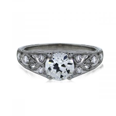 You are Viewing this 1.06ct Old European Cut Diamond Engagement Ring!