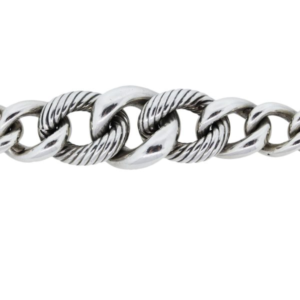 You are vieing this David Yurman Sterling Silver Graduated Curb Link Bracelet!