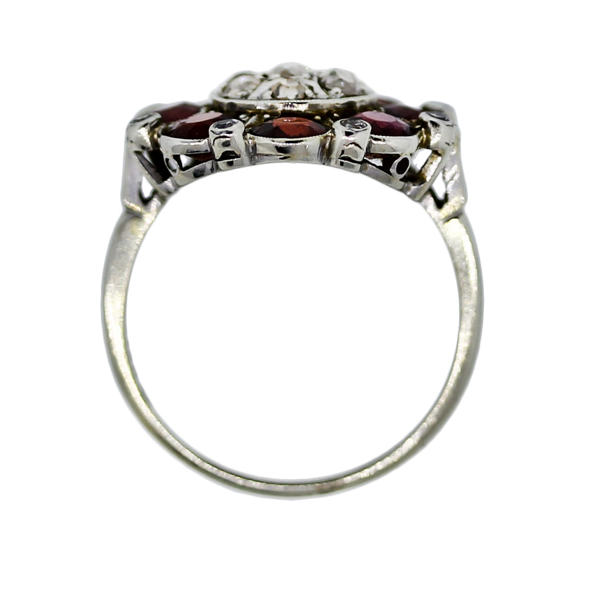 18k white gold garnet cocktail ring boca raton
