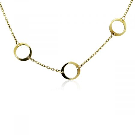 You are viewing this 18k Yellow Gold Multi Circle Ladies Chain Necklace!