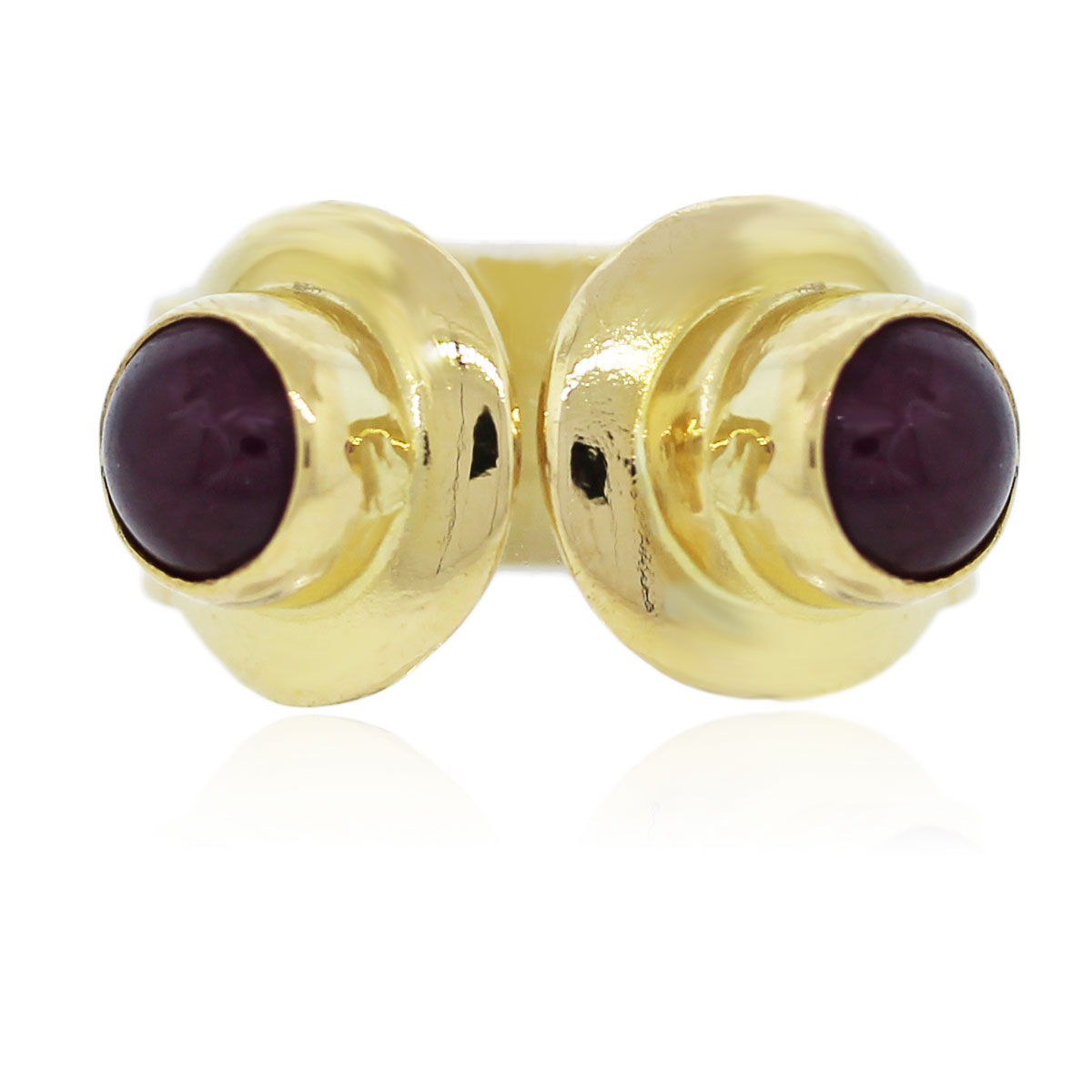 You are viewing this 18k Yellow Gold Greek Round Cabochon Ruby Ring!