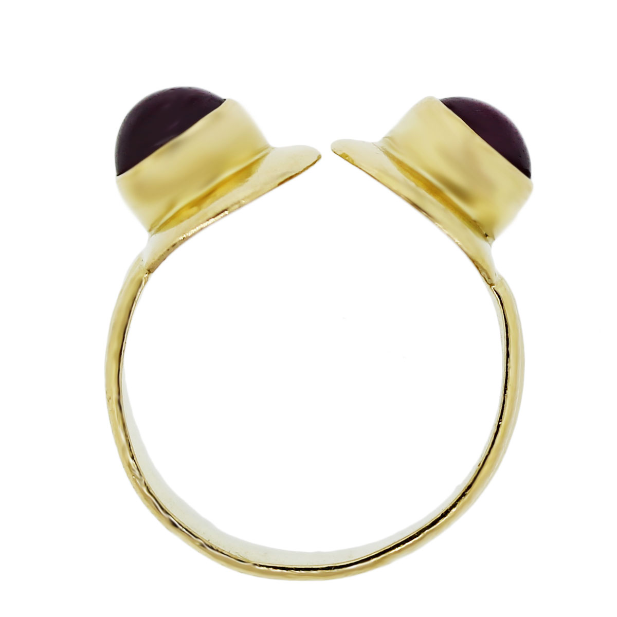 Yellow Gold Greek Round Cabochon Ring