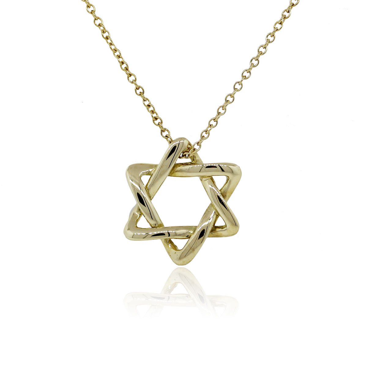 Tiffany co 18k yellow gold star of david necklace for Star of david necklace mens jewelry