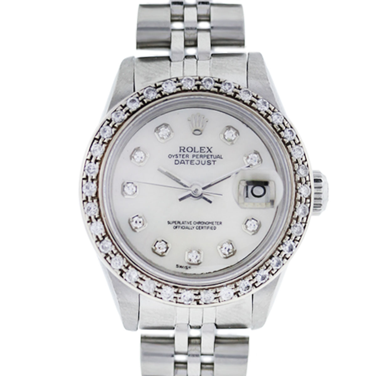 You are viewing this Rolex Datejust 69174 Diamond Bezel Jubilee Ladies Watch!