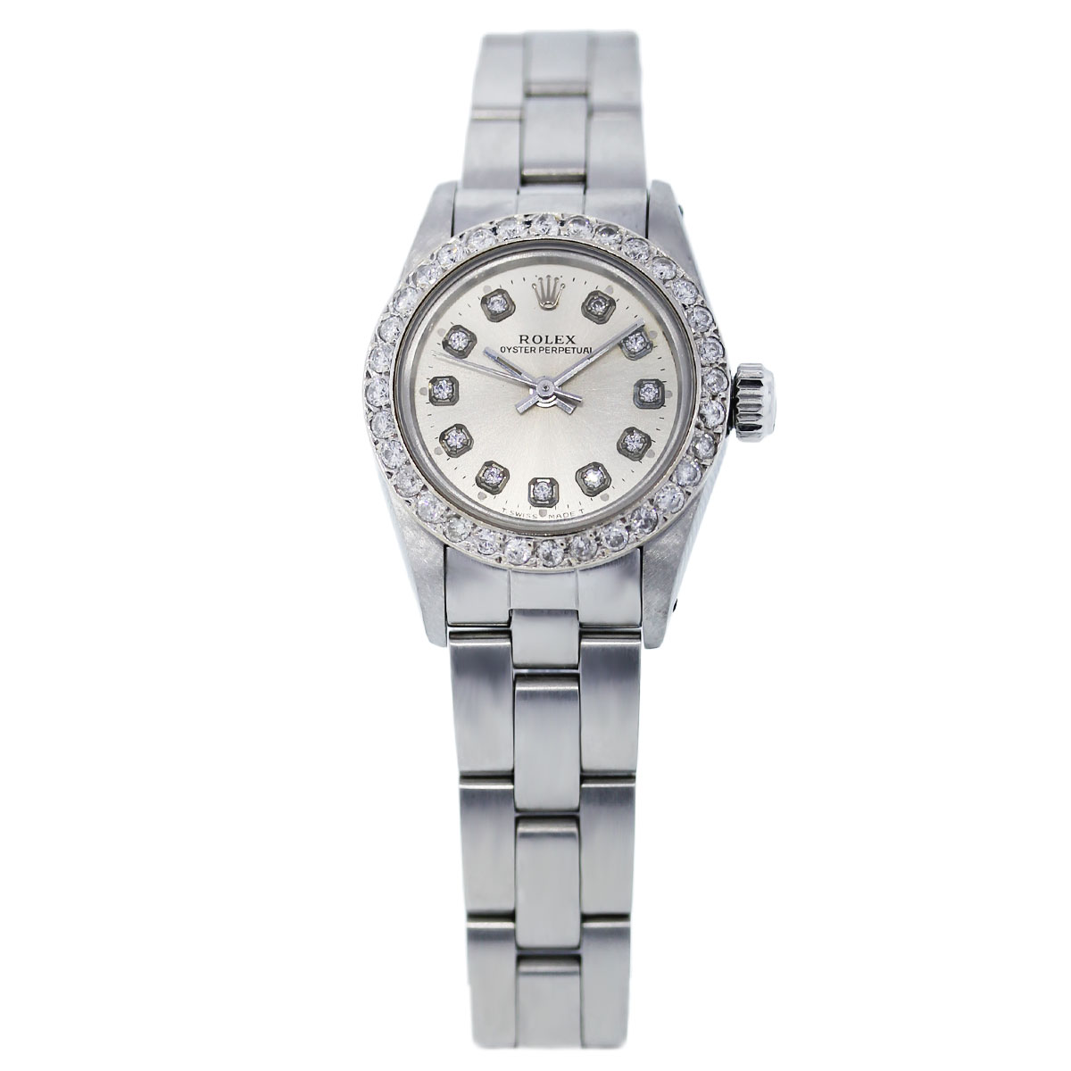 Rolex Oyster Perpetual Diamond Ladies Watch