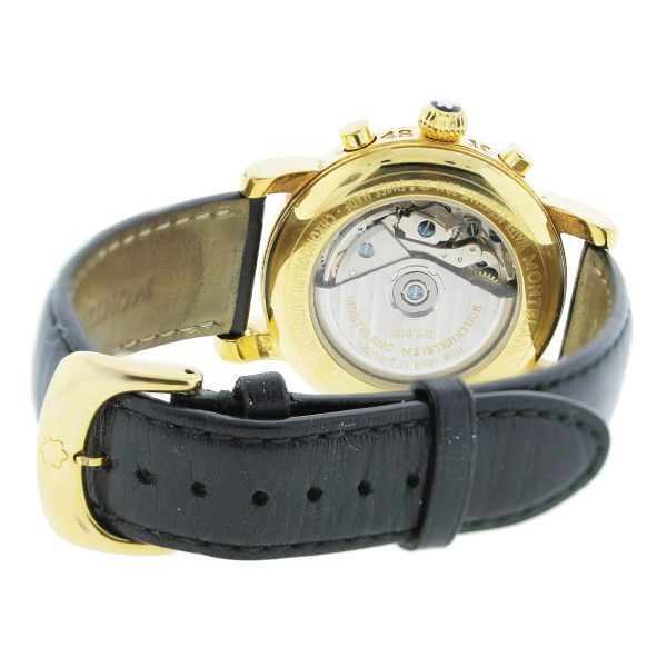 MontBlanc Meisterstruck Gold Plated Stainless Steel Chronograph Watch