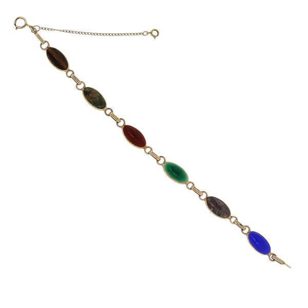 You are viewing this Gold Plated With Multi Precious Gemstones Bracelet!