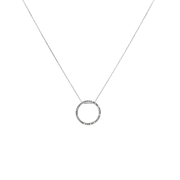 White Gold and Diamond Pendant On Chain