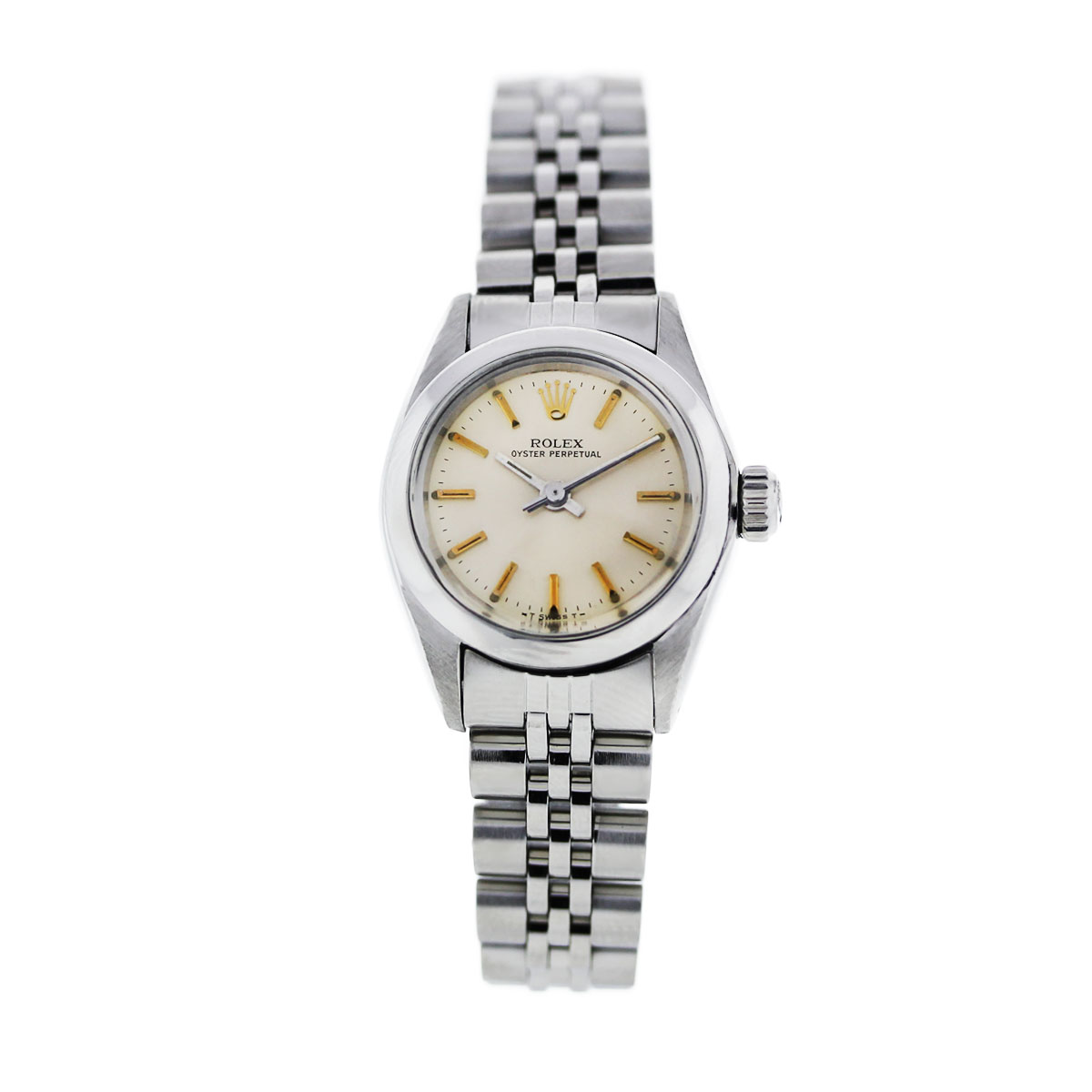 Rolex Oyster Perpetual Champagne Dial Ladies Watch