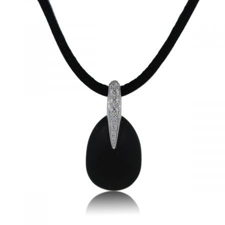 You are Viewing this Movado Black Matte Onyx Pendant on Chord!