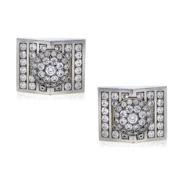 You are Viewing these 8.00Ctw Diamond Mens Cufflinks