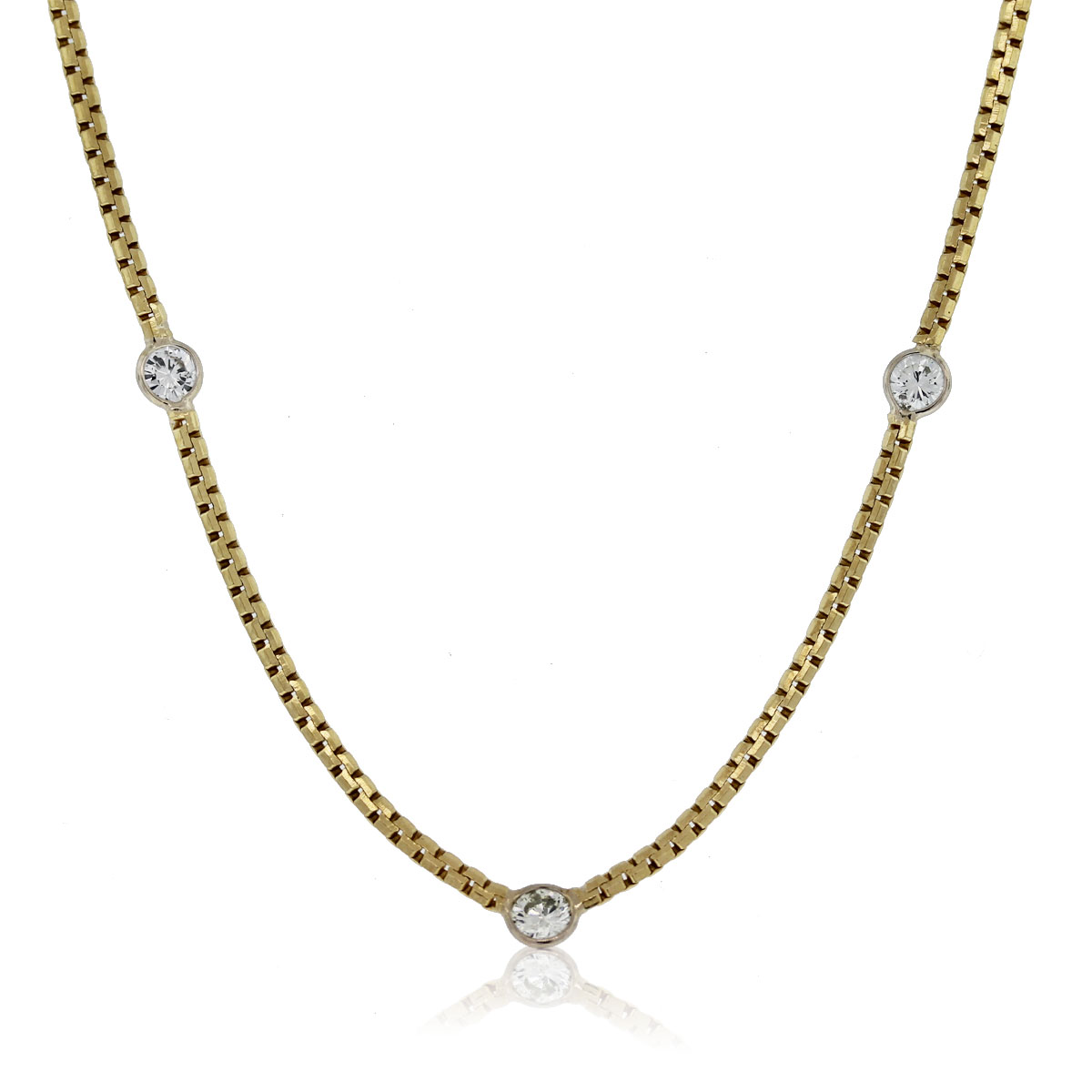14k Yellow Gold Diamonds By The Yard 25 Quot Necklace