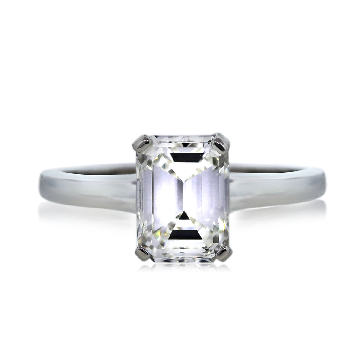 You are Viewing this Gorgeous 1.18ct Emerald Cut Engagement Ring!