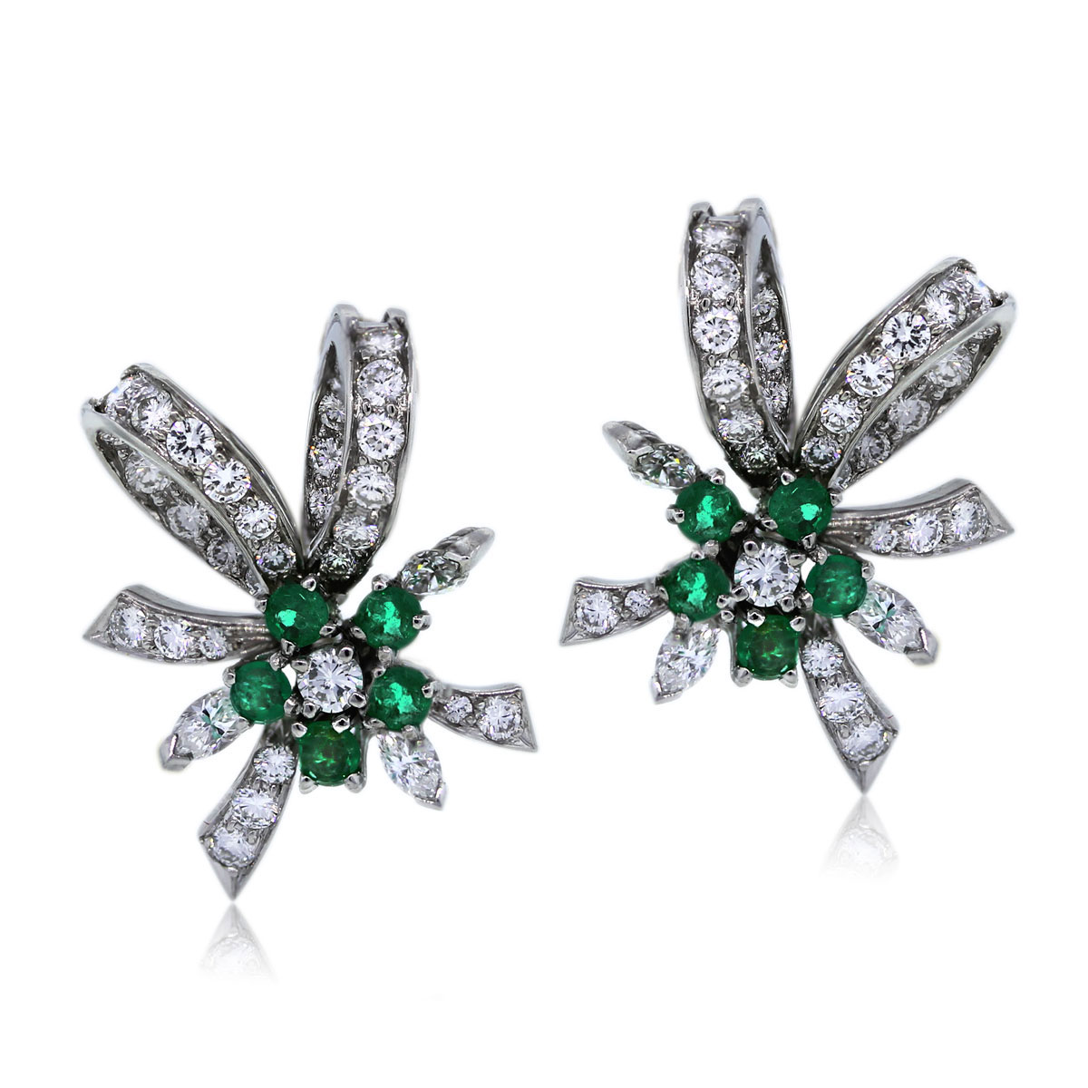 You are Viewing these Stunning Emerald and Diamond Earrings!