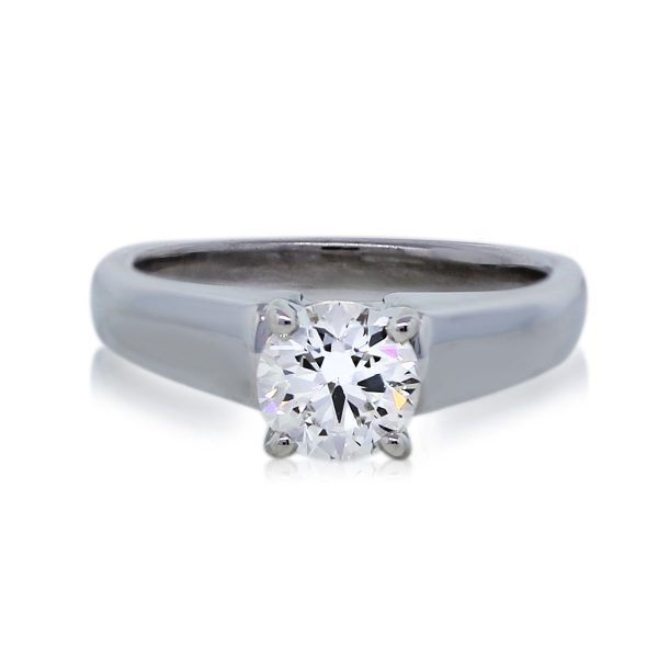 You are Viewing this Stunning 0.80ct Round Brilliant Diamond Engagement Ring!