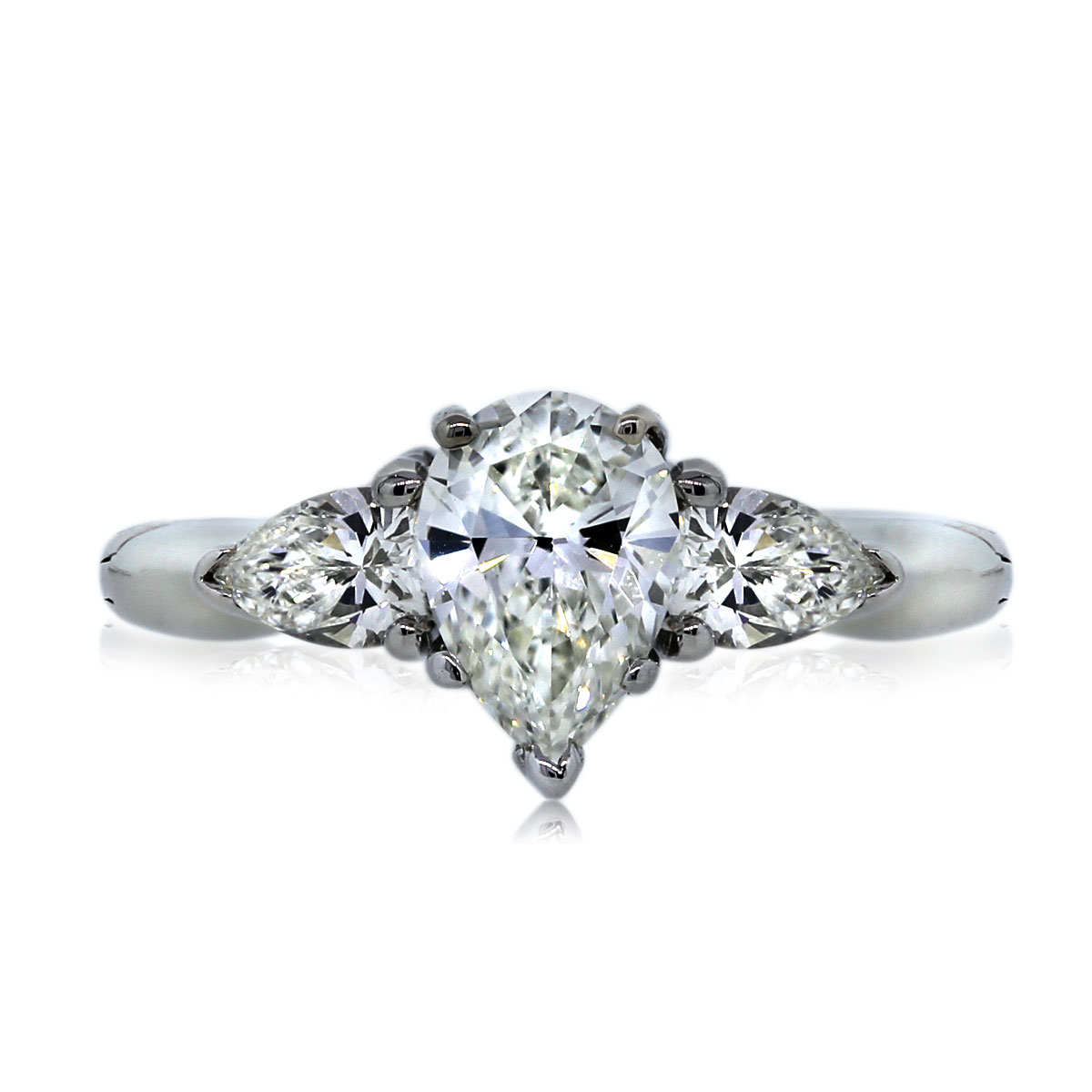 You are Viewing this Three Stone Pear Shaped Diamond!