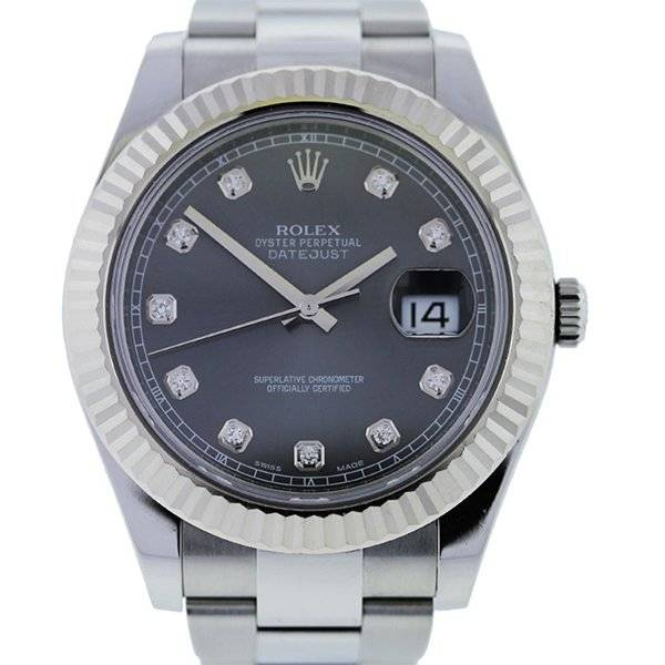 Rolex Datejust 2 116334 Diamond Dial Stainless Steel Gents Watch