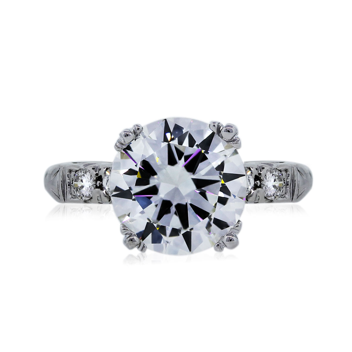 You are Viewing this 2.74ct Round Brilliant Diamond Engagement Ring!