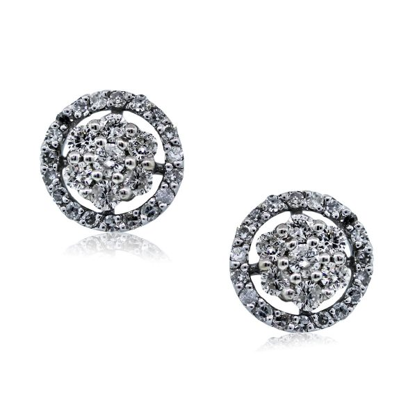 You are Viewing these Stunning Diamond Flower Stud Earrings!