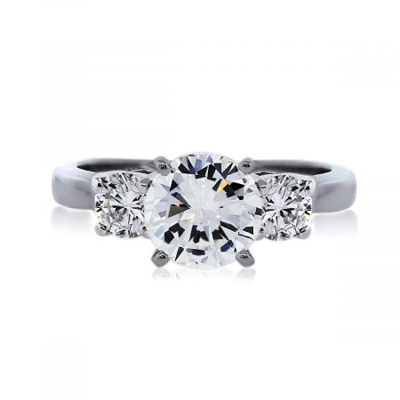 You are Viewing this Three Stone Diamond Engagement Ring