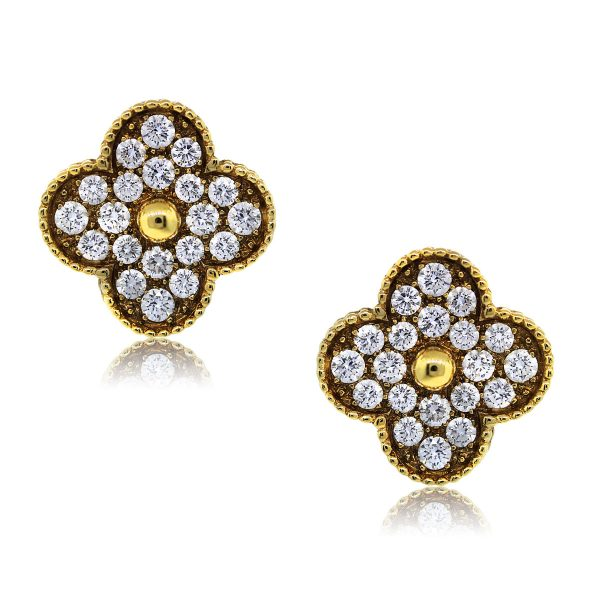 You are Viewing These Van Cleef & Arpels Diamond Alhambra Earclips