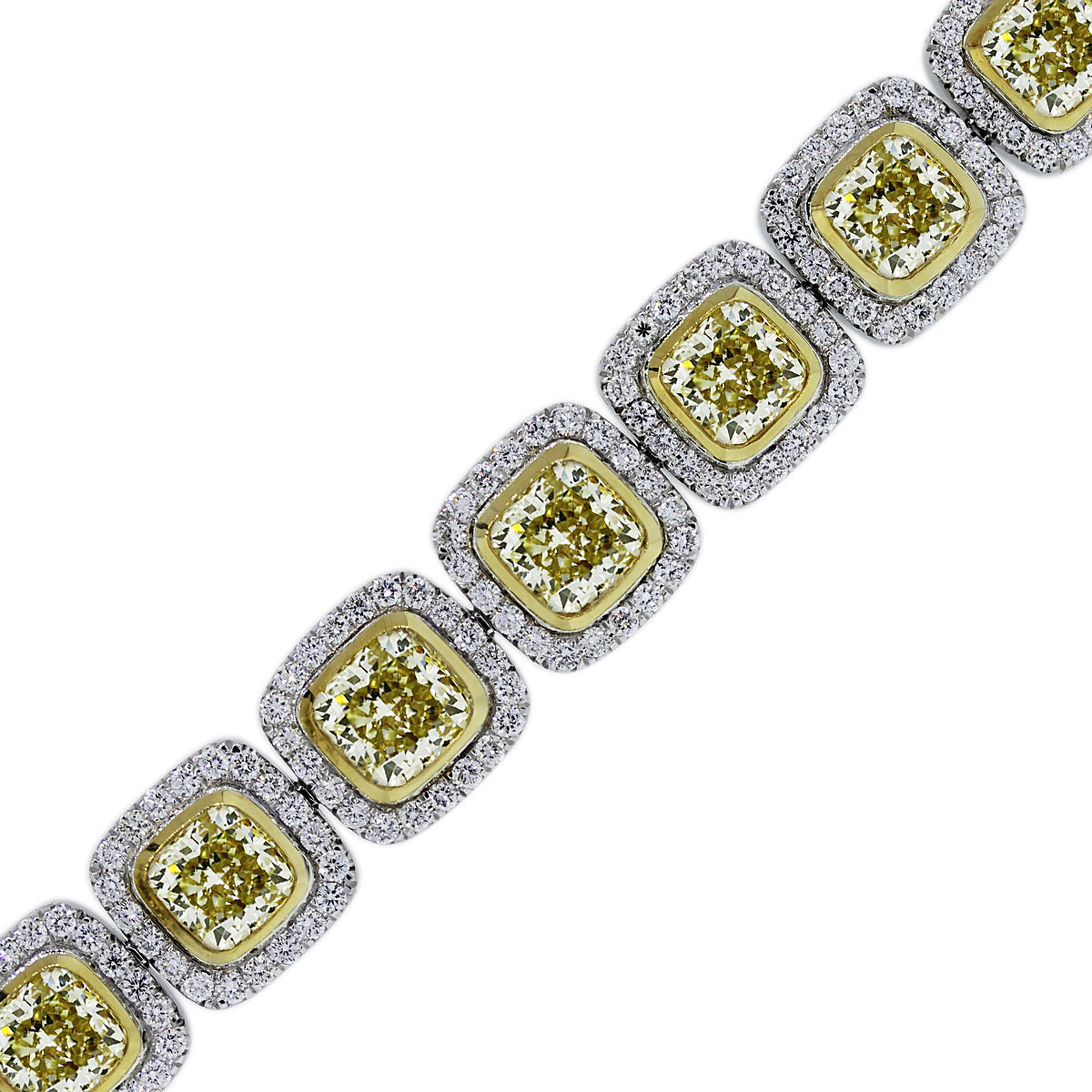You are Viewing this Yellow Diamond Bracelet!