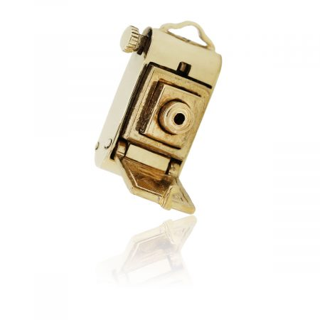 You are viewing this 14K Yellow Gold Pop Out Camera Charm!