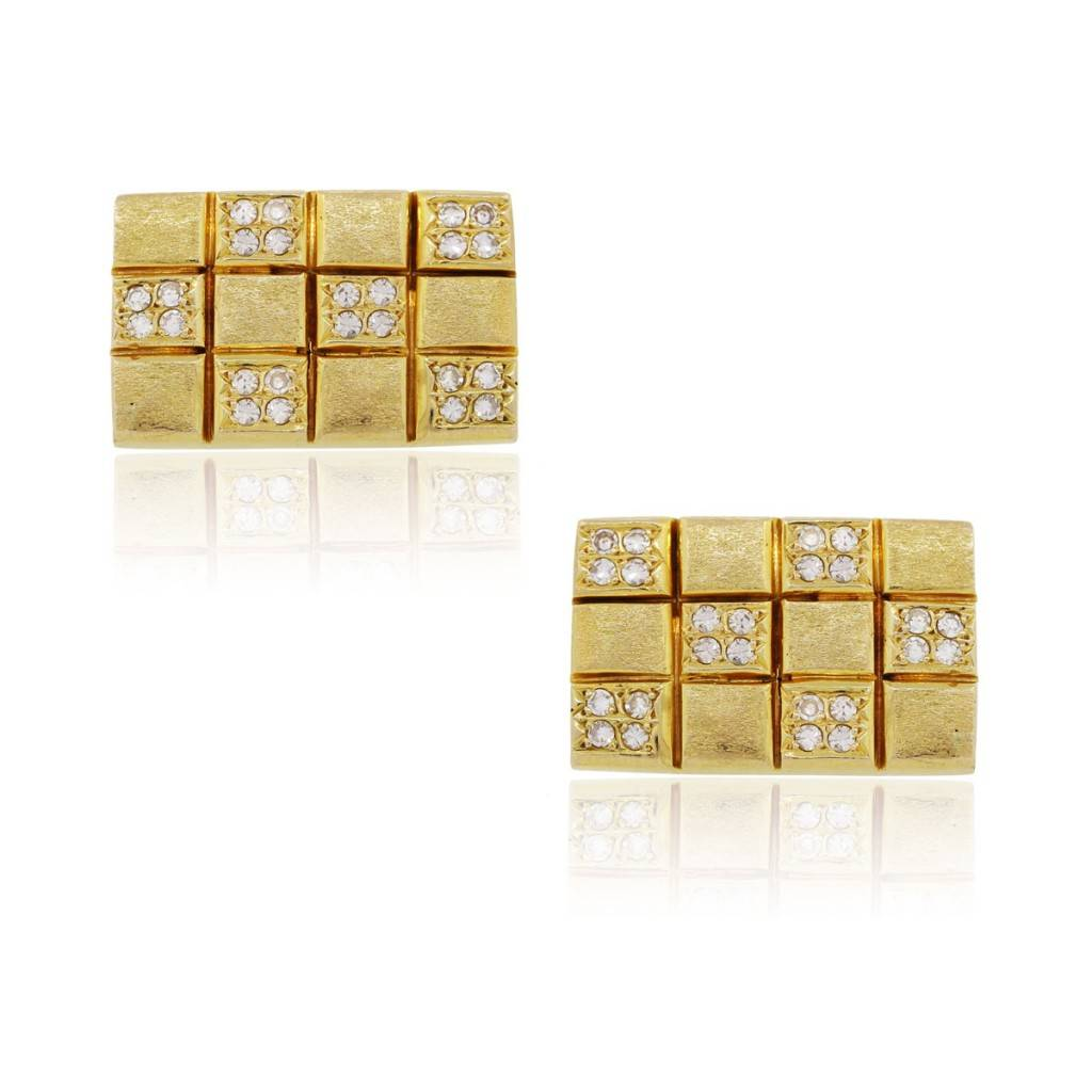 You are viewing these 14k Yellow Gold 1ctw Round Brilliant Diamond Mens Cufflinks!