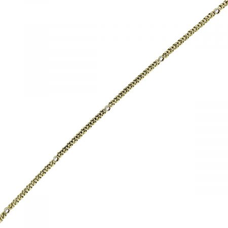 You are viewing this 18k Yellow Gold and Round Diamond Anklet!