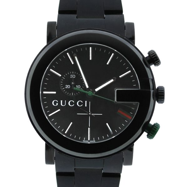 You are viewing this Gucci 101M Chronograph Black Dial Mens Watch!