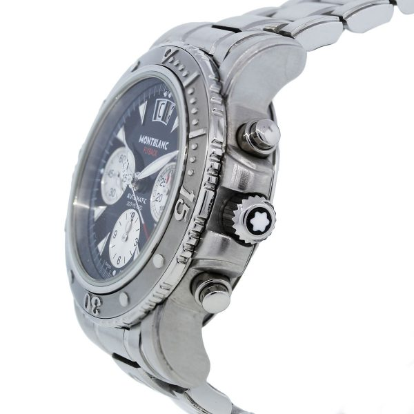 MontBlanc 7059 Stainless Steel Chronograph Watch
