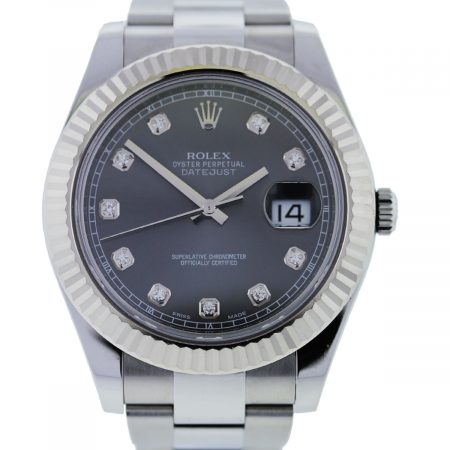 You are viewing this Rolex Datejust 2 116334 Diamond Dail Stainless Steel Gents Watch!